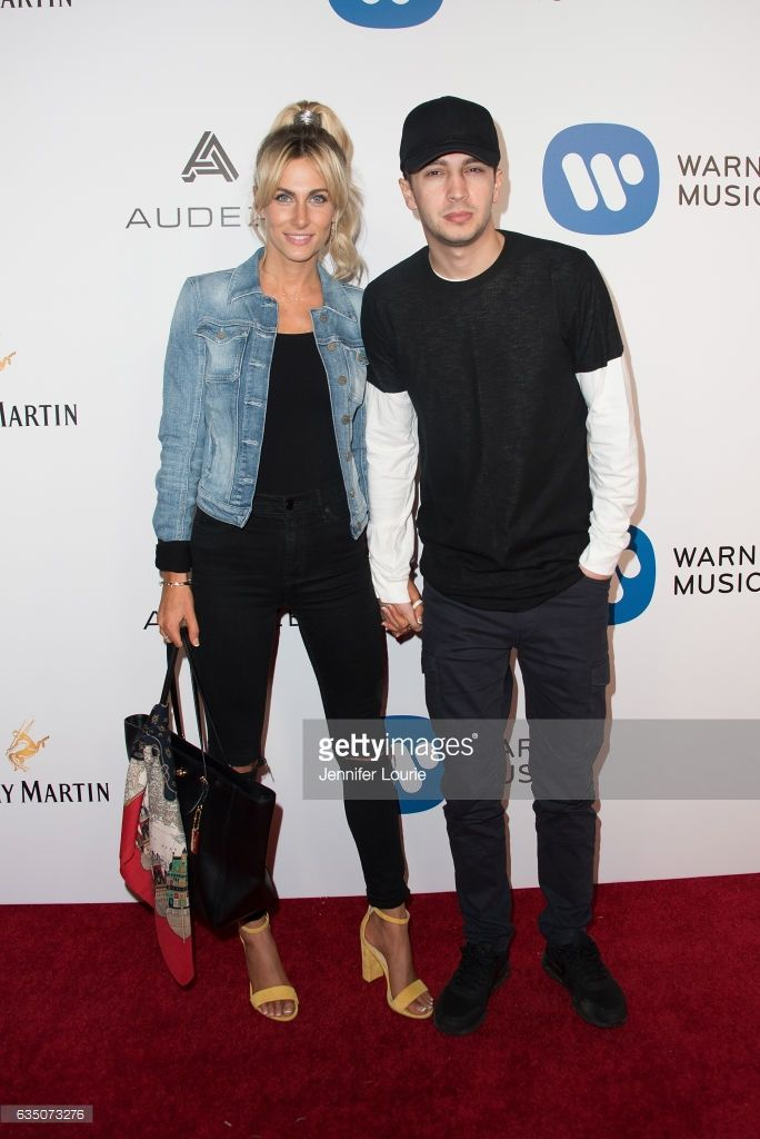 Jenna Black and Tyler Joseph attend the Warner Music Group's Annual GRAMMY Celebration at Milk Studios on February 12, 2017 in Hollywood, California.