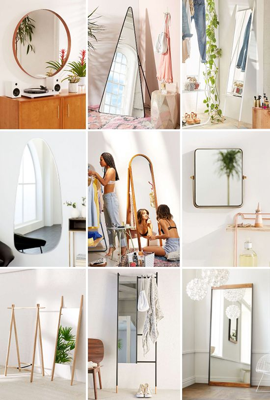 This list of 22 cool mirrors for the season are perfect for dressing up bare walls and look very cool in the process. So many good ones! #decor #mirrors #modern