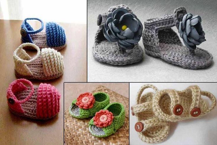 los zapatos de bebé del verano
