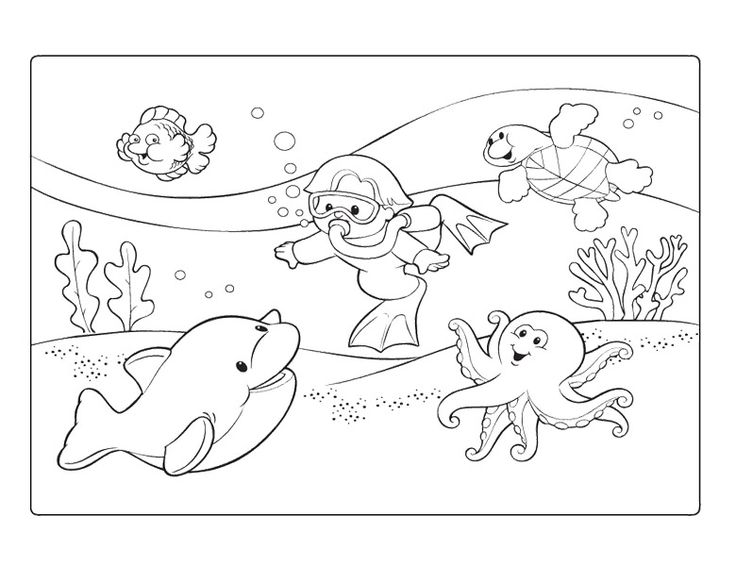 water fun coloring pages - photo#20