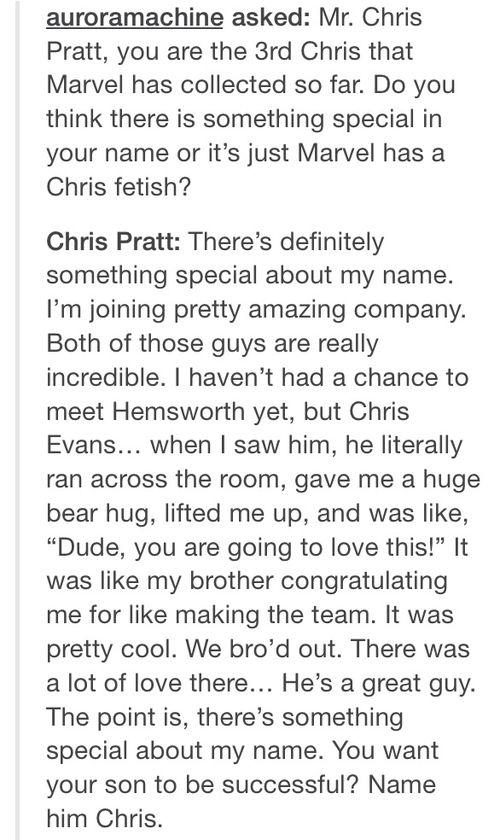 Noted on that, Chris. ;)