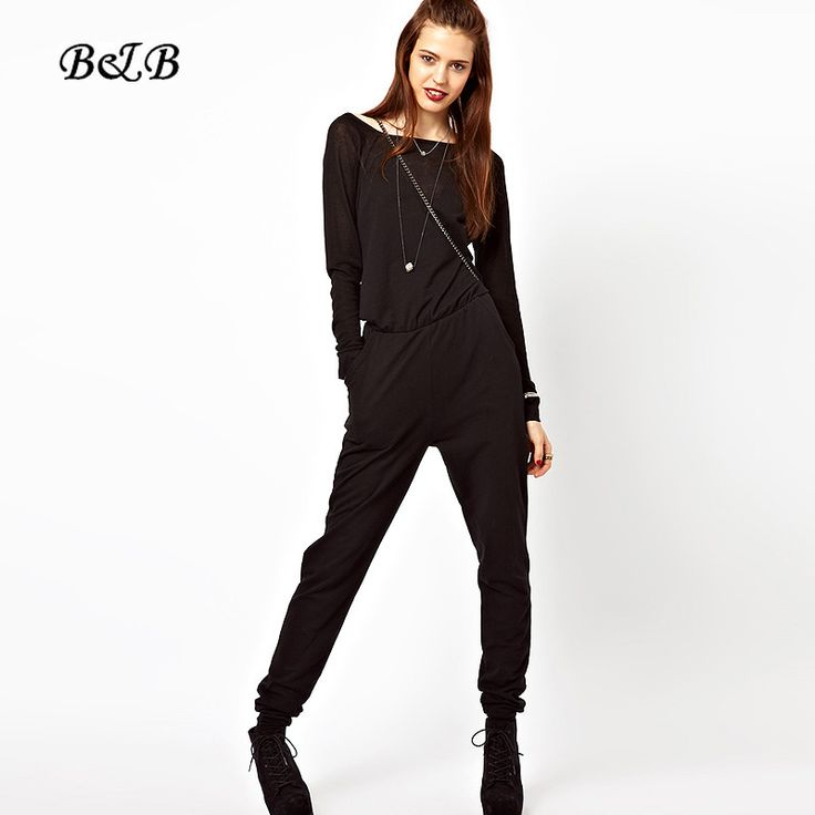 Fashion Woman Jumpsuit Rompers Autumn Summer Back Overalls for Women 2015 Long Sleeve Bodysuit Free Shipping on http://ali.pub/fw4o0