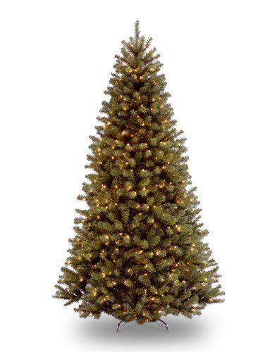National Tree 7.5 Foot North Valley Spruce Tree with 550 Clear Lights Hinged (NRV7-300-75)
