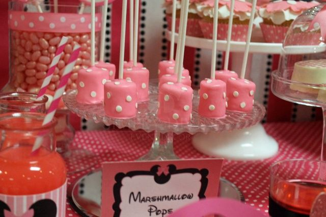 Sweets to die for. Minnie Mouse Birthday Party Ideas | Photo 6 of 37 | Catch My Party