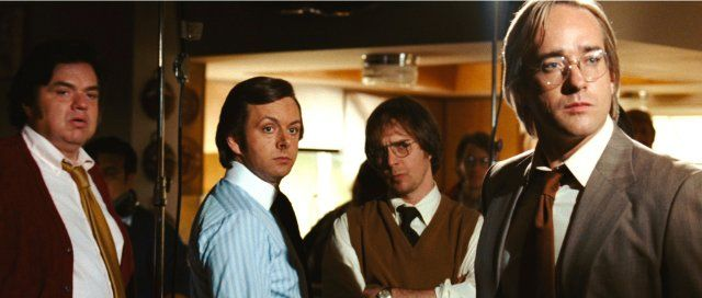 Still of Oliver Platt, Sam Rockwell, Matthew Macfadyen and Michael Sheen in El desafío - Frost contra Nixon