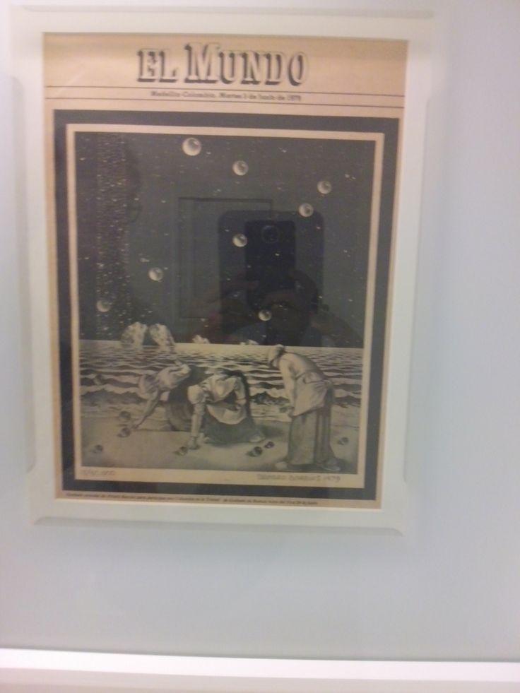alvaro barrios caratagena 1945 grabado popular para la exposicion sueños de marcel duchamp 1980 impresión offiset sobre papel