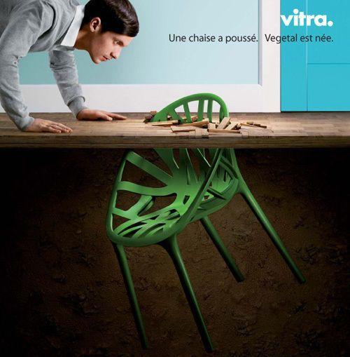 Chaise design vegetal par les fr res bouroullec design - Chaise vegetal vitra ...