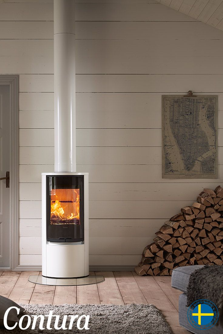 CONTURA 510G Style white, glass door. Small, easy to position and very efficient.
