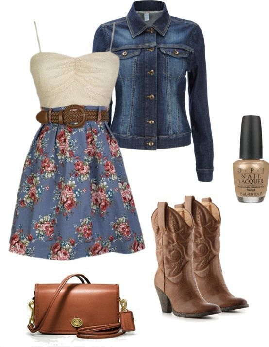 cute cowgirl clothes | Cute outfit with cowgirl boots