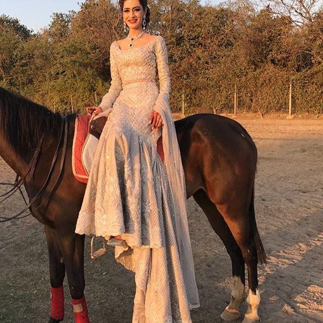 Anam Ali in Faraz manan Pakistani couture