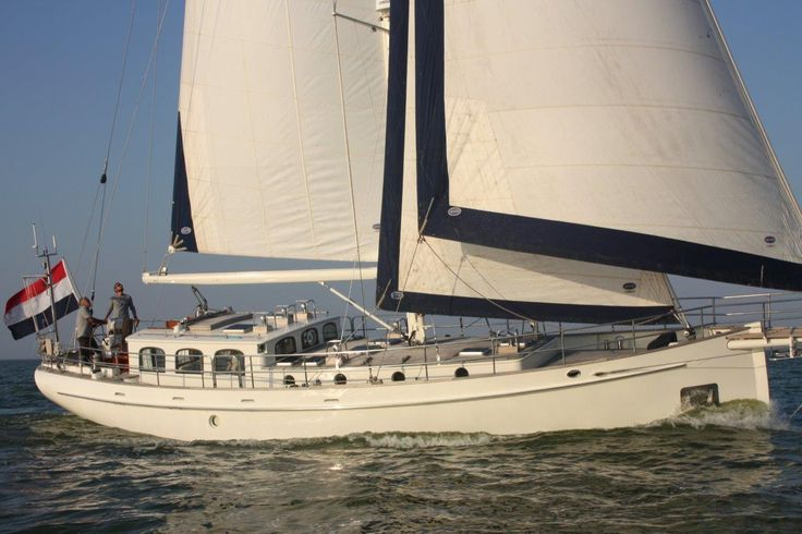 PUFFIN 50 - FOR SALE - This Puffin 50 designed by Olivier van Meer en built in 2003 is a sturdy and classic timeless lined cutter rigged sloop with steel hull and lifting keel. She underwent a complete refit during the winter period 2015/2016. Fully equipped and in like new condition