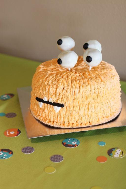 Kid's monster birthday party ideas - monster cake