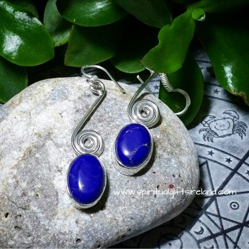 Lapis Lazuli Celtic Spiral Earrings Visit our store at www.spiritualgiftsireland.com  Follow Spiritual Gifts Ireland on www.facebook.com/spiritualgiftsireland www.instagram.com/spiritualgiftsireland