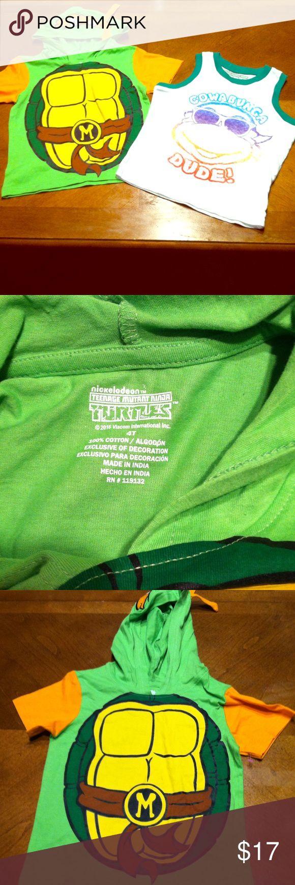 **SALE** 2 Teenage  Ninga Turtles Tee Shirts  NWT 2 Teenage Mutant Ninga Turtles Tee Shirts  NWT. Original Nickelodeon tee shirts. Size 4 Nickelodeon Shirts & Tops Tees - Short Sleeve