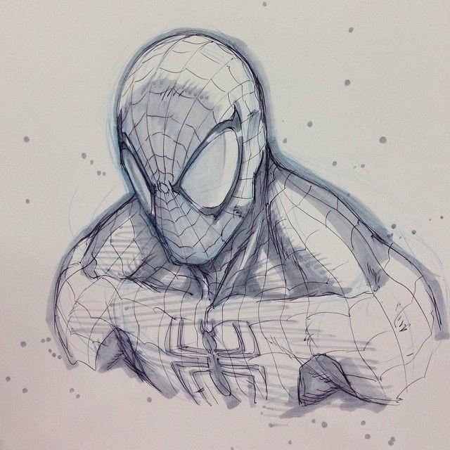 Spider-Man sketch by Alvin Lee
