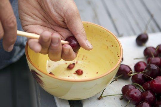 No Cherry Pitter? Use a Chopstick