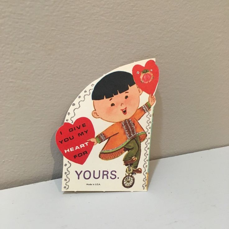 VTG Valentine Card Asian Child Chinese Boy Unicycle Give You My Heart Unused - $5.50. Our goal is to stock our eBay store with fun, whimsical quirky and obscure objects. Fun card as shown. Thanks for checking out our listings. We have other fun kitschy items listed from the same era. file u Please Note: If your purchase is a lightweight item such as greeting card, valentine, hankie, etc. priced $20 or less we may ship via first class letter or large envelope without tracking. This is so we…