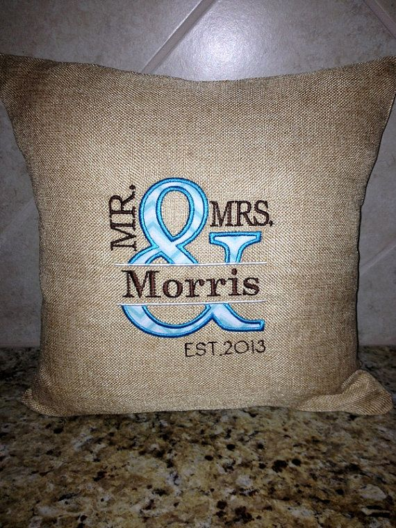MR and  MRS Personalized Decorative PILLOW- Wedding-Anniversary-Gift