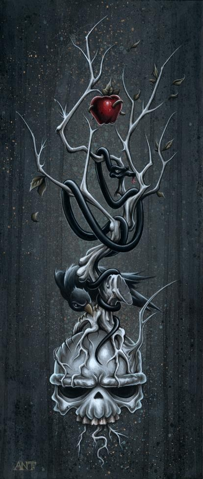 The dying tree anthony clarkson ruco pinterest for Tree of knowledge of good and evil tattoo
