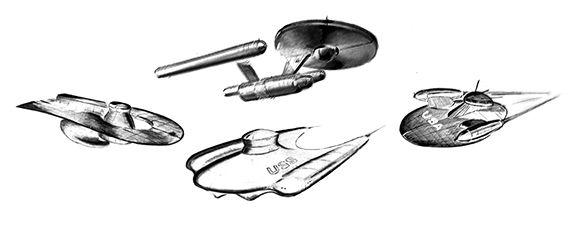 L'evoluzione dell'ENTERPRISE della serie classica di STAR TREK nei concept-art anni '60 mai visti prima