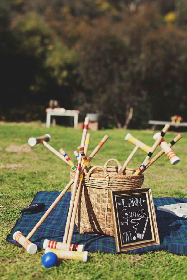 Fun lawn games! Join us at Outside:in and play croquet on our inside lawn #english #gardenparty