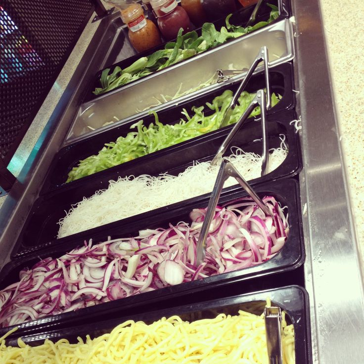 Just some of the fresh toppings available for your Mongolian BBQ (aka Mongo's) stir fry.