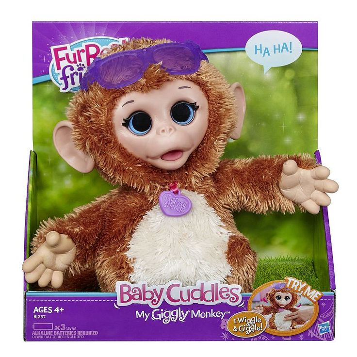 FurReal Friends Baby Cuddles My Giggly Monkey by Hasbro, Multicolor