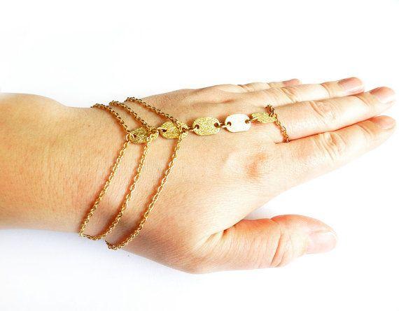 Slave Bracelet, Gold Chain, Ring Bracelet, Hand Harness ...