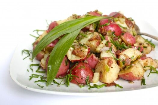 Warm Potato Salad with Grainy Mustard, Bacon & Ramps from @Aimee ...