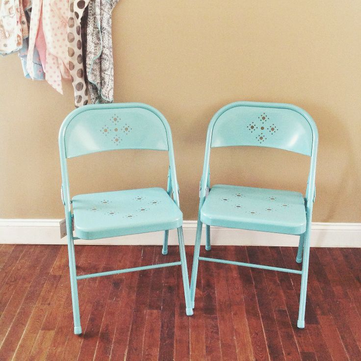 adorable aqua folding chairs from Tar only 12 99 Home Sweet Home