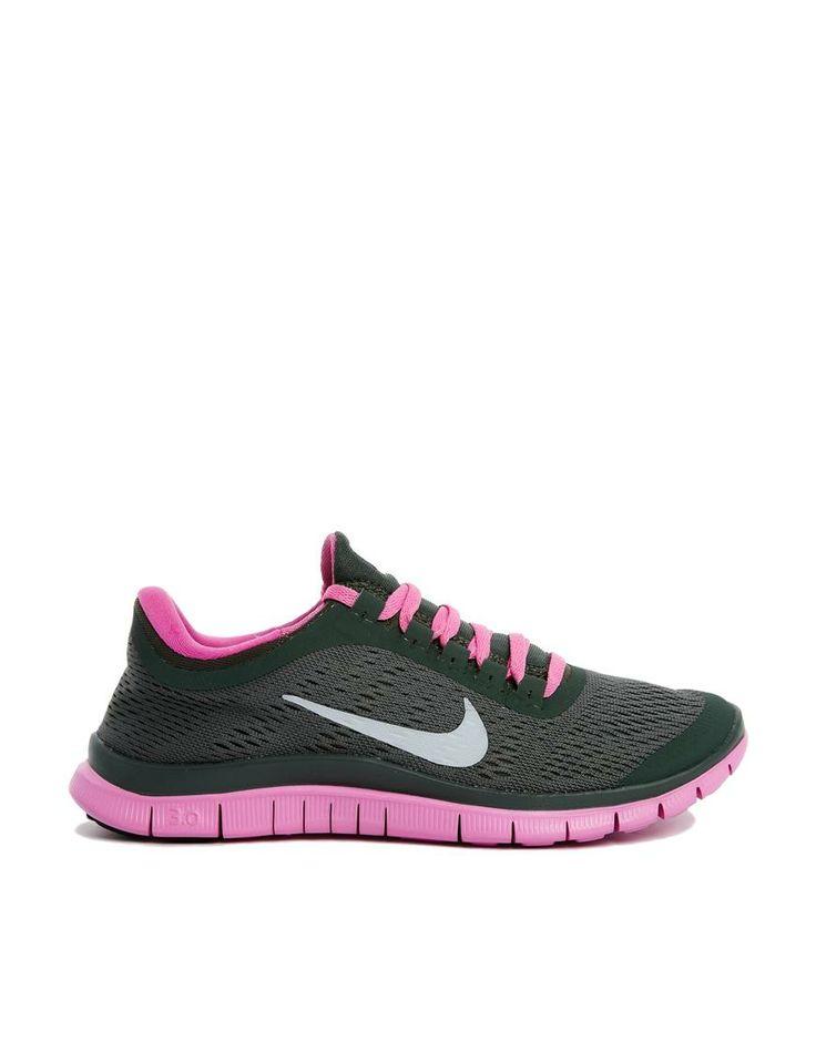 nike womens free 3.0 v5 grey\/pink trainers edge