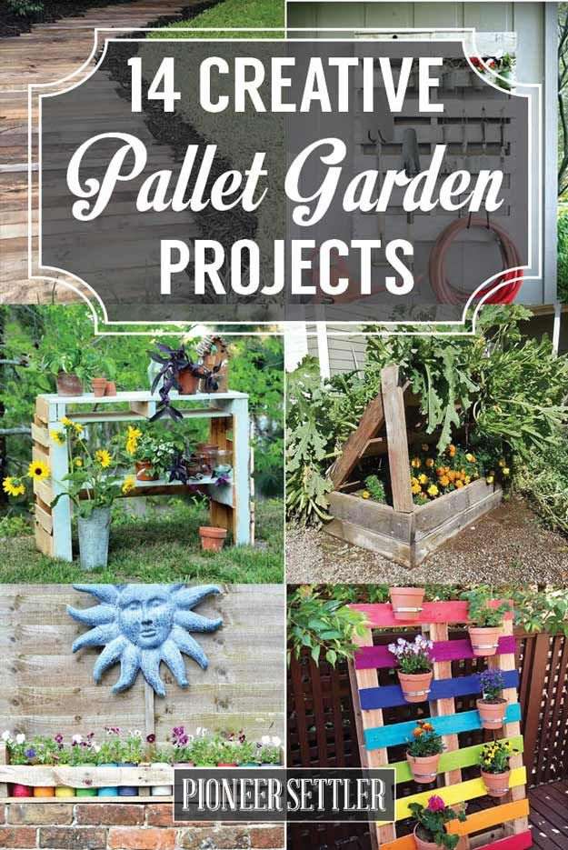 Pallet Projects For Gardening | Looking for some pallet projects to make for your garden? Put spare pallets to good use and make something nice for your homestead this spring. You'll love these pallet projects for gardening.