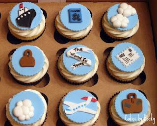 Cakes by Becky: Travel Themed Graduate Cupcakes