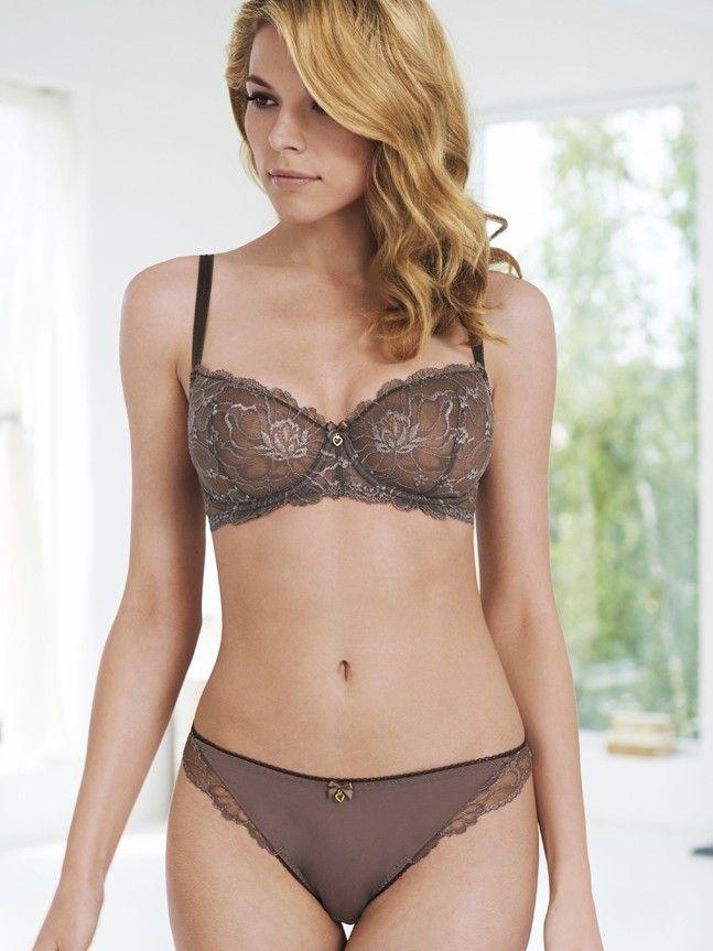 Breast 36 dd size balcony bra for