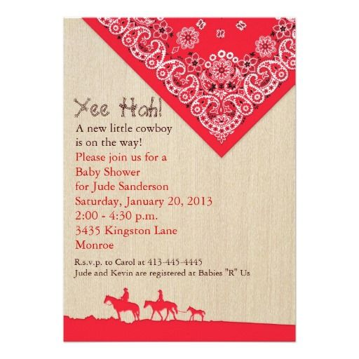 351 best Cowboy Baby Shower Invitations images on Pinterest Baby