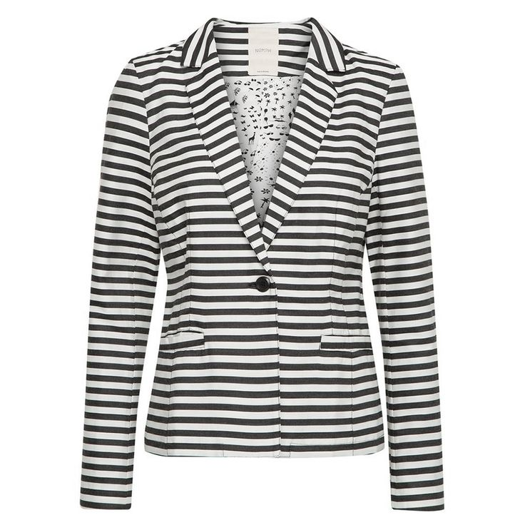 Nümph Blazer, Evelyn, Sort/Hvid