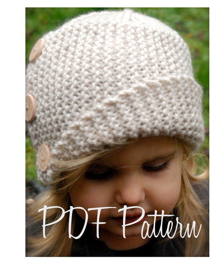 Knitting PATTERN-The Piper Cloche'     OMG I wish my daughter would wear hats. Too cute.