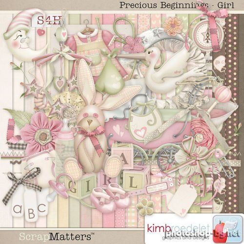 Mild baby scrap kit for girls - Precious Beginning Girl