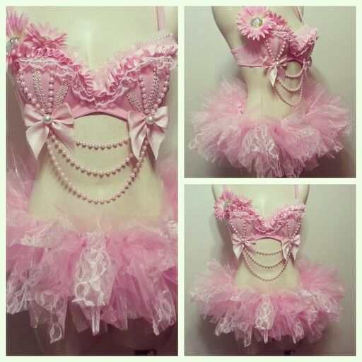 Pretty in Pink rave outfit SugarRoxCouture@gmail.com