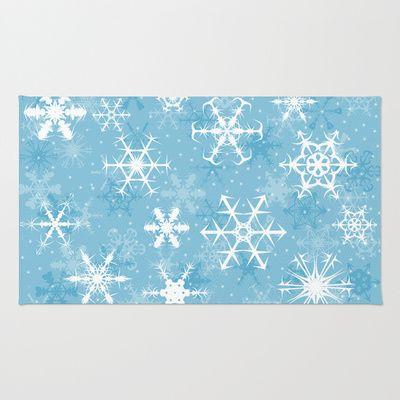 Snowflakes Rug - Available Here: http://society6.com/rapplatt/Snowflakes-vyM_Rug#36=288