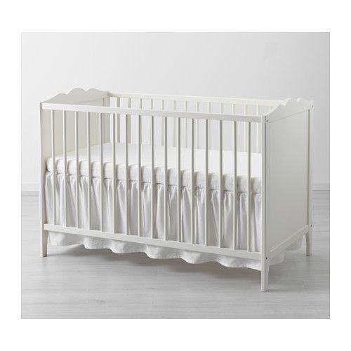 LEN Crib skirt, white white 28x52