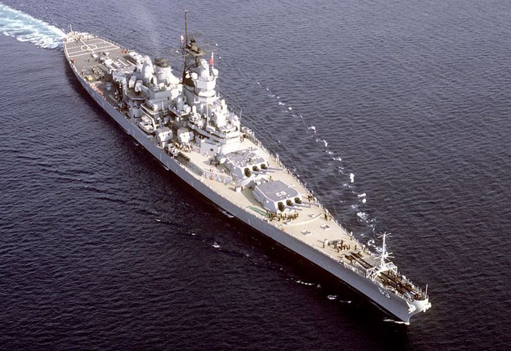 Picture of the USS Missouri (BB-63).