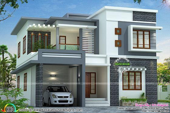 Best 2767 Sq Ft Flat Roof Style Home Kerala House Design Two 640 x 480
