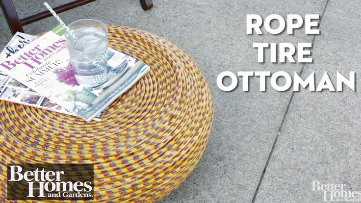 Rope Tire Ottoman
