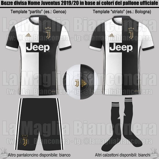 half off 64282 6ae8a Juventus 19-20 Home, Away & Third Kit Colors & Design Info ...