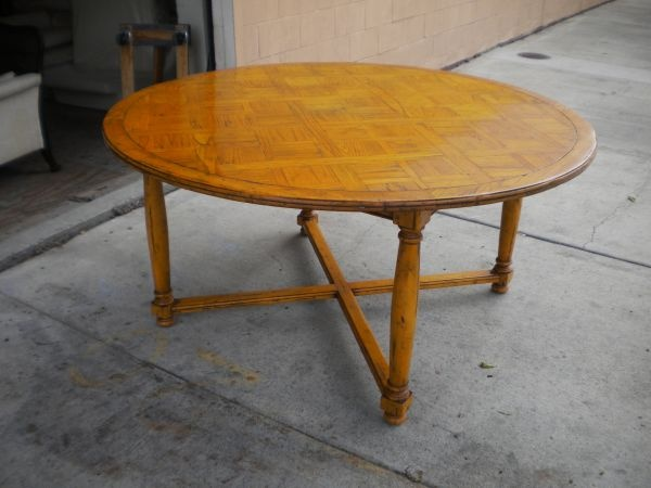 Guy chaddock round dining table sd craigslist for Dining room tables craigslist