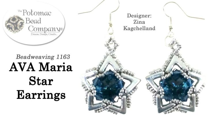 In this video from The Potomac Bead Company, Zina from HoneyBeads1 teaches you how to make her AVA Maria Star Earrings design. Find a list of supplies in the...