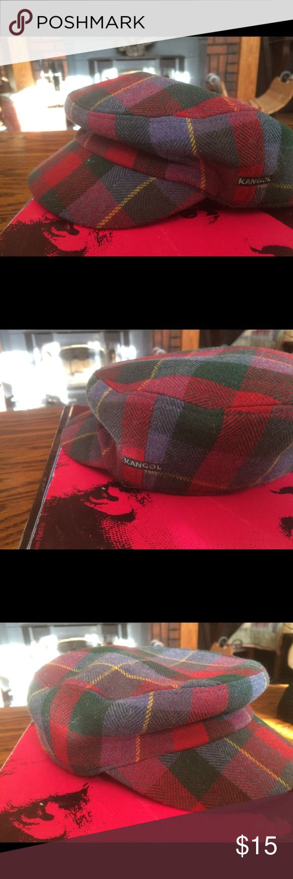 Men's large Kangol cap Plaid size large Kangol one stitch missing on brim. Offers always welcome. Kangol Accessories Hats