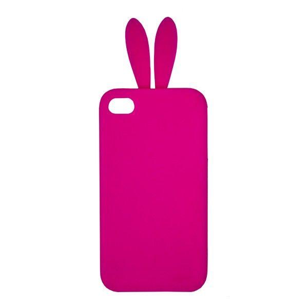 Neon Pink Bunny Ears iPhone Case By My Flash Trash | My Flash Trash  [www.myflashtrash.com]