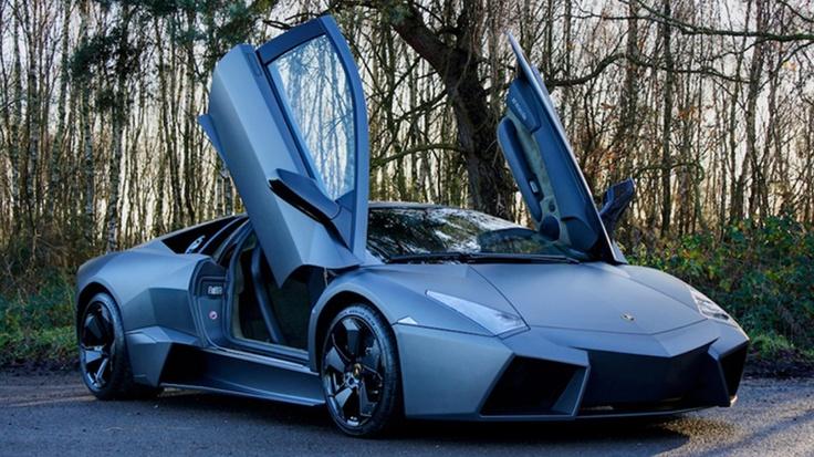 Matte black Lamborghini Reventon